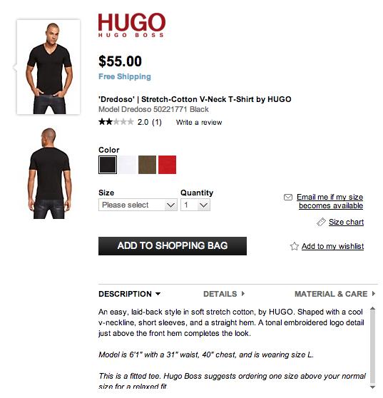 Product copywriting