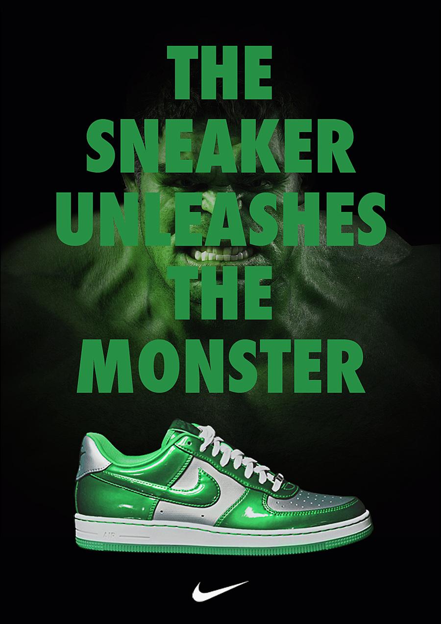 Nike X Marvel Print Ad - Lbert  Nike X Marvel P...